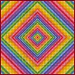 Tunnel vision geometric art