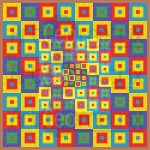 Square nation geometric art