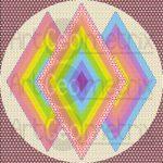 Diamond power geometric art