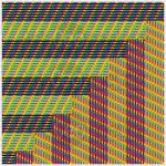 Destiny intertwined mosaic art print