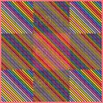 Colourful unison mosaic art print