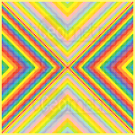Power vibrations mosaic art print