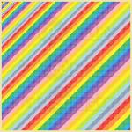 Zipline party mosaic art print