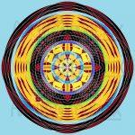 Poetic movement geometric art print