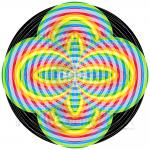 Spectral shock infinity pattern art print