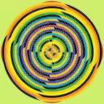 Sphere of impact infinity pattern art print