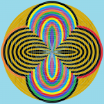 Subtle mystique infinity pattern art print