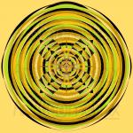 Ray of sunshine infinity pattern art print