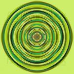 Green scene infinity pattern art print