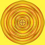 Orbital pathways infinity patter art print