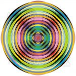Spinning top infinity pattern art print