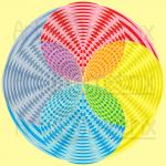 Singing spheres infinity pattern art print