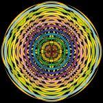 Graphic portal infinity pattern art print