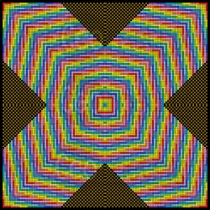 Magical cross mosaic art print