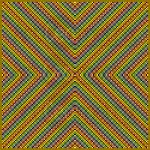 Colour compression mosaic art print