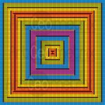 Practical abstraction mosaic art print