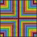 Cross eyed vision mosaic art print