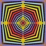 Supernova geometric art print
