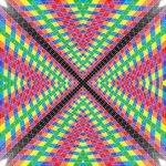 X tunnel geometric art print