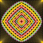Energetic rave geometric art