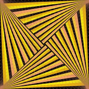 In the spotlight geometric art