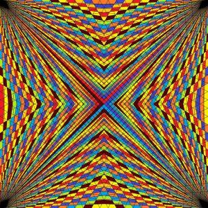 Complex parallels geometric art