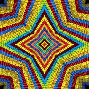 Dazzling star geometric art