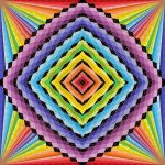 Wow projection geometric art