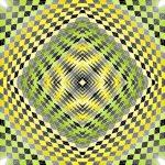 Green fields geometric art