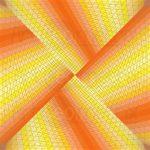Warm ribbons geometric art