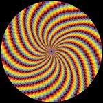 Spiral fantasy geometric art